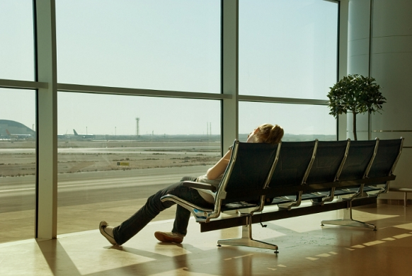 Sleeping in an Airport Featured Image