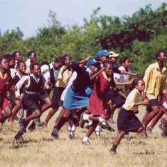 South africa - barny pearce school soccer match celebrations