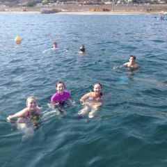 Snorkling over roman ruins outside naples