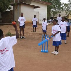 Cricket match in Ghana