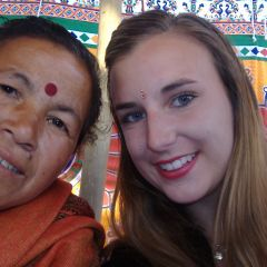 Leah and her Nepalese Mum