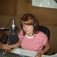 Emma at the Radio Station