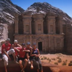 Group at treasury, petra