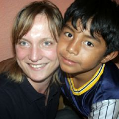 Volunteer with Guatemalan Child