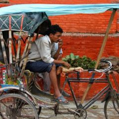 Cycle rickshaw Durbar square Kathmandu