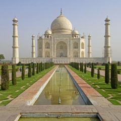 Taj Mahal with the Agra Gardens
