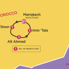 Marrakech Atlas Trek Map