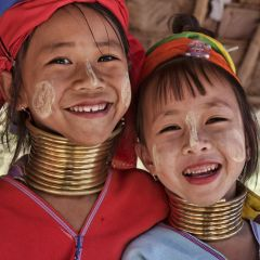 Thai children in chiang mai