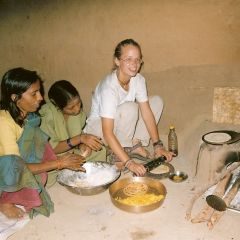 Cooking in an Indian home