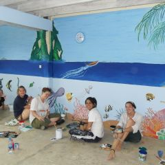 12. let your artistic side flow with mural painting