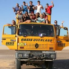 Oasis Overland truck and group