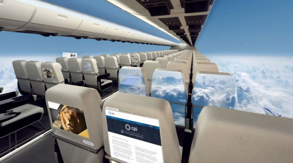 Windowless planes a reality in a decade Featured Image
