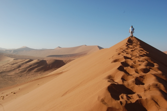 Sandboarding the Giant Dunes of Namibia Featured Image