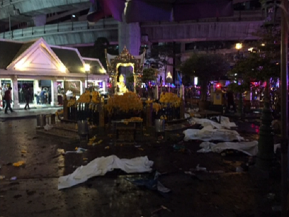Bomb blast in central Bangkok, Thailand Featured Image
