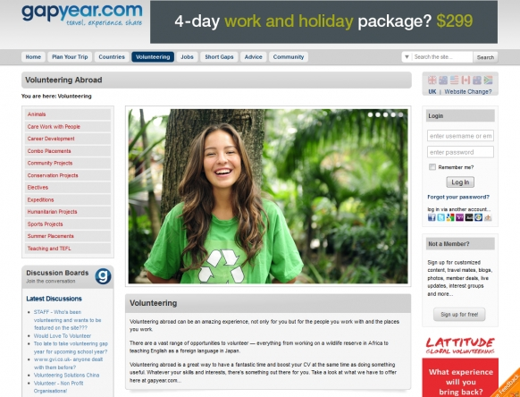 The new gapyear.com Featured Image