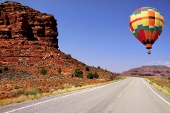Hot air balloon over the Uluru Featured Image