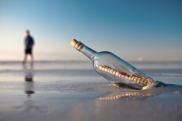 Message in a bottle finds a friend Featured Image