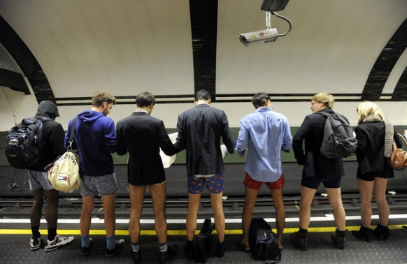 Cheeky commuters bare bums Featured Image