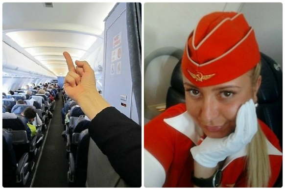 Air steward sacked for flipping the bird Featured Image