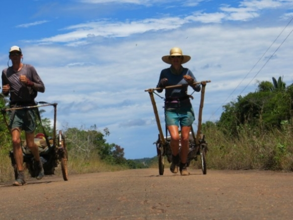 Couple run 6,200 miles across South America 'pulling a plough' Featured Image