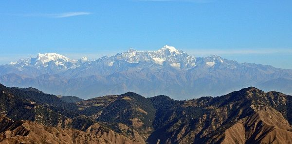 The Himalayas as seen from India