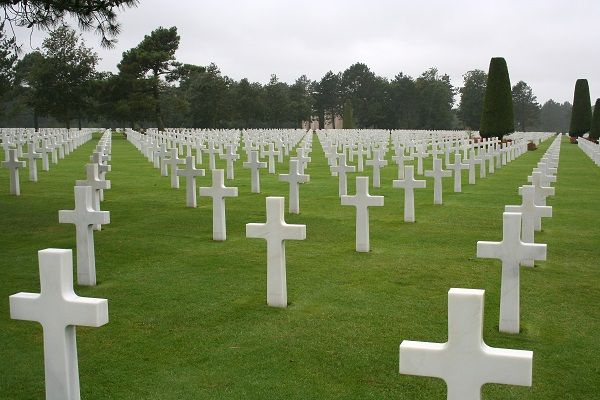 A war memorial and cemetery in France