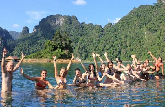 Backpackers in Southeast Asia