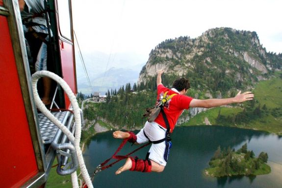 Bungee jumping on a gap year