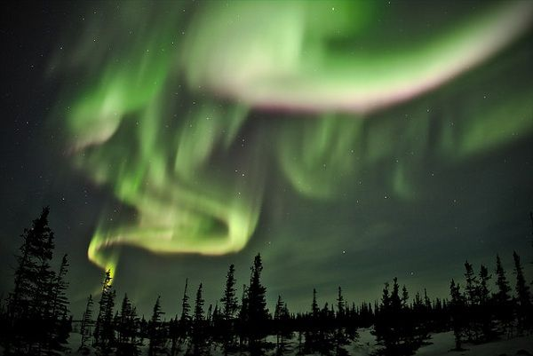 The Aurora Borealis (northern lights) as seen in Canada