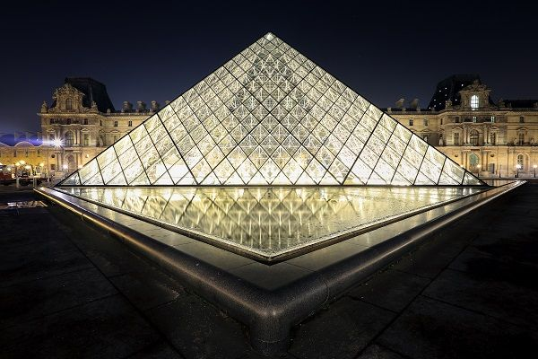 The Louvre Gallery in Paris, France