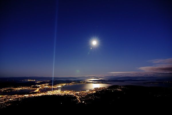 Night time view over Wellington