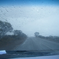 The storm on the way into Kalbarri