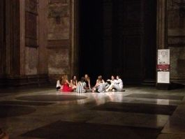 Midnight in the Pantheon on the last night of the course