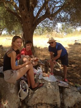 Picnic in a forgotten quarry, Sicily