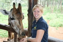 Giraffe sanctuary in Nairobi