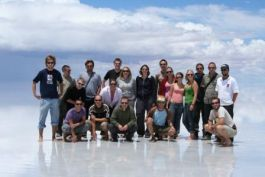 Group picture on the Uyuni Salt Lake