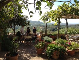 Lunch in the hills of Tuscany