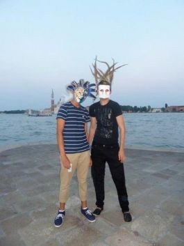 A masked evening on the Dogana, Venice