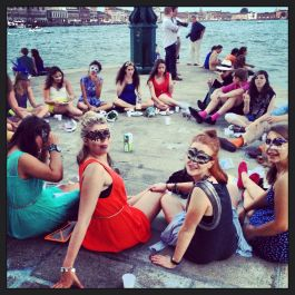 A picnic on the Dogana, Venice