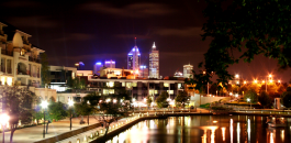 East Perth at night time