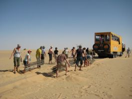 Sandmatting through the Sahara