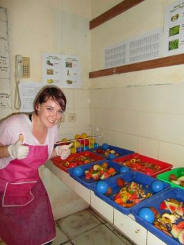 Preparing food for the animals in the rescue centre