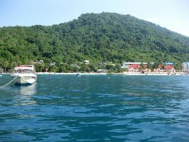 Perhentian Island village beach