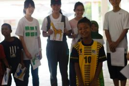Children from the Environmental club in one of the activities