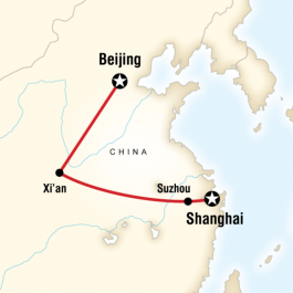 Beijing to Shanghai Adventure - Route Map