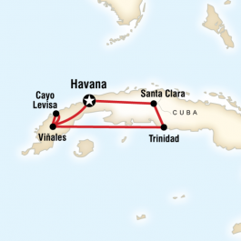 Cuban Rhythms - Route Map