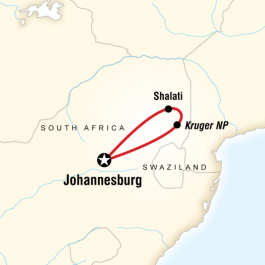 Kruger Camping Safari - Route Map