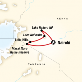 Kenya Overland Adventure - Route Map