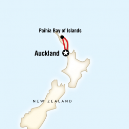 New Zealand - The Bay of Islands - Route Map