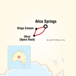 Red Centre Experience - Route Map